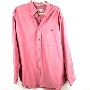 ORVIS MENS SIZE LARGE SALMON LONG SLEEVE SHIRT